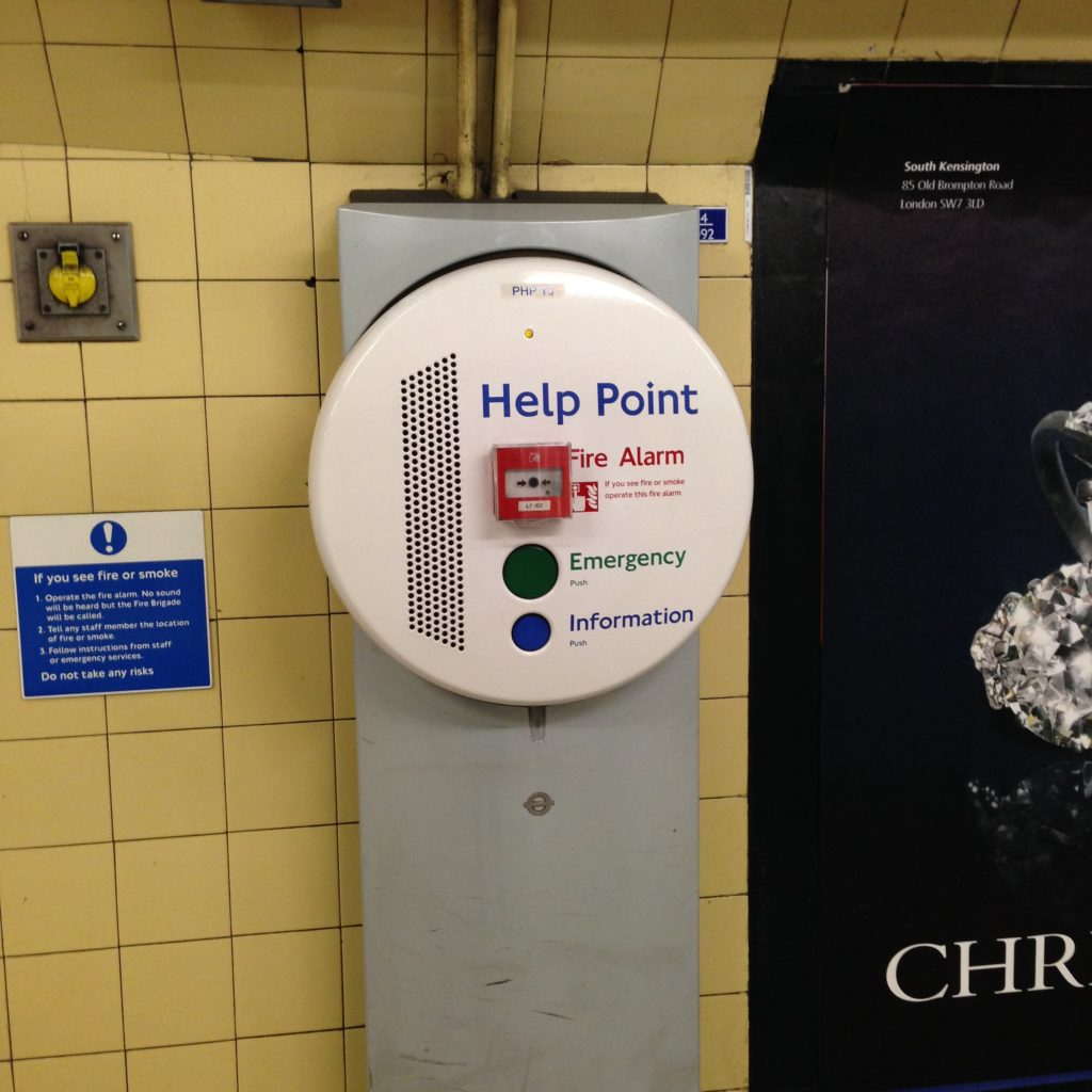 Transport for London Underground Help Point