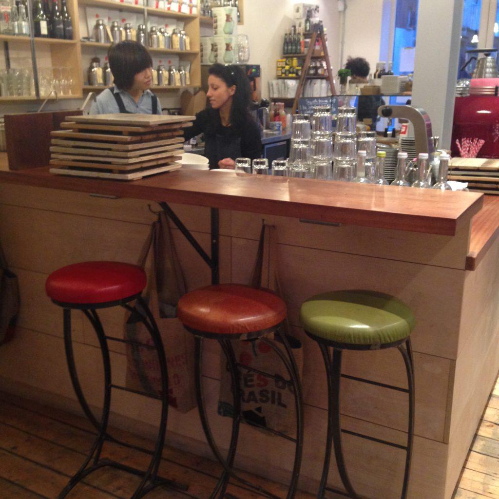 bar seating at Timberyard, Shoreditch, London